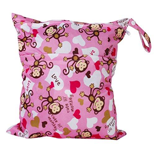 Wiederverwendbar Wasserdicht Windel Beutel Baby Tuch Waschbar Wickeltasche mit Zwei Reißverschluss