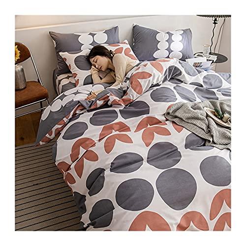 Påslakanset Nordisk Bomull Hög Gren Och Hög Densitet Sängkläder 4 Delar Flerfärgad 200x230 Påslakan Dra-på-lakan 150/180x200 Örngott 48x74cmx2 (Color : Gray A, Size : 200x230cm -180x200cm)
