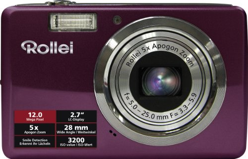 Rollei Compactline 350 Digitalkamera (12 Megapixels, 5 -Fach Opt. Zoom, 6.86 cm (2.7 Zoll) Display) Purple