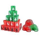 Mini Resortes de Juguete MEZOOM 39 piezas Muelles Mágicos de Navidad Magic Spring Regalos de Año Nuevo para Niños Bolsas de Rellenos de Fiestas Premios de Juegos