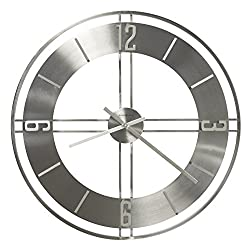 Howard Miller Stapleton Wall Clock 625-520 – Oversized Iron and Nickel with Quartz Movement