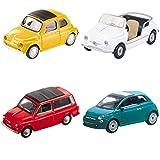 Mondo Motors - Feliz cumpleaños Fiat 500 - Coches de juguete de regalo para niños - Edad 3-6 años - Escala 1:43 - Réplicas Fiat 500-53211, colores surtidos, 1 pieza