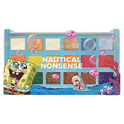 Wet n Wild Palette SpongeBob Squarepants Makeup Eyeshadow and Makeup Pigment Set 1114233, Nautical Nonsense, 0.82 Ounce