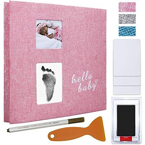 Vienrose Álbum de Fotos Bebé para pegar y escribir Scrapbook bebe primer año, para 120 10x15 Fotos,28x27 cm