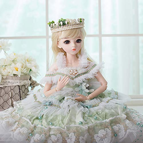 UCanaan BJD Doll, 1/3 SD Dolls 24 Inch 18 Ball Jointed Doll DIY Toys with Clothes Outfit Shoes Wig Hair Makeup, Best Gift for Christmas - Tasia
