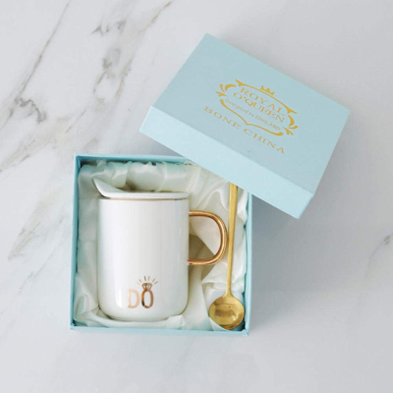 tienda hace compras y ventas MK MUG Taza Taza Taza De Café Taza De oro con Tapa Pareja Taza De Cerámica Taza - Eterno Anillo De Diamantes Caja De Regalo blancoa  marcas de diseñadores baratos