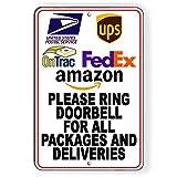 43LenaJon OnTrac - Timbre de puerta con anillo para paquetes y entregas
