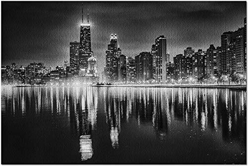 Chicago Reflections - Puzzle de 500 piezas de fotografía en blanco y negro para adultos