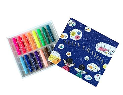 Kokuyo Fluorescent Crayons 16 Colors KE-AC31