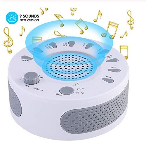 Máquina portátil de sonido de ruido blanco regulador de terapia de sueño de luz de bebé con 9 tipos de plantas sonido relajante monitor de sueño de bebé