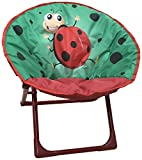 Yummy Cooky Moon Lounge Chair for Toddlers and Kids Lightweight Foldable Kids Saucer Chair