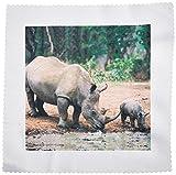 3dRose QS 1053_ 1schwarz Rhino, Nashorn Quilt Platz,