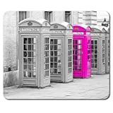 Funky Phone Box Mouse Mat Pad - Pink Girls England UK Fun Gift PC Computer #8596