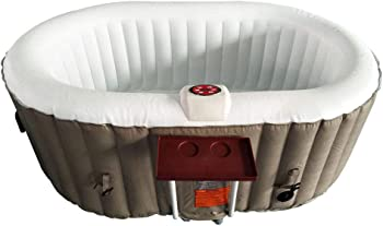 ALEKO HTIO2BRWH Inflatable Two-Person Hot Tub