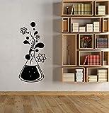 zqyjhkou Autocollant Mural en Vinyle Chimie Science molécule Atomique école Salle de Classe Enfants Chambre Autocollant Mur décoratif Art Mural 35x77cm