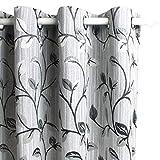Viste tu hogar Pack 4 Cortina Decorativa Opaca con Ojales, Estilo Simple y...