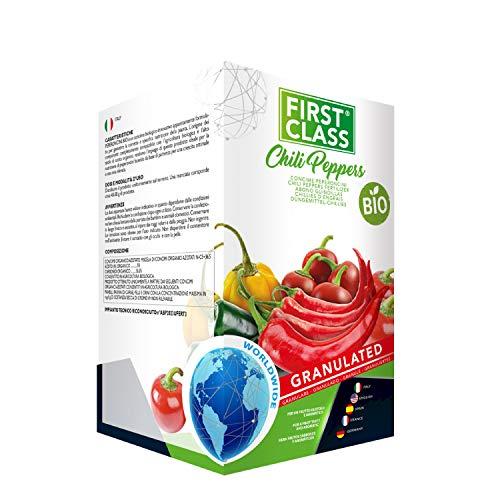 Firstclass Concime Fertilizzante Granulare BIO Specifico per Peperoncini | Frutti Gustosi e Aromatici | Sviluppo Rigoglioso | Colori più Intensi | Offerta Barattolo Richiudibile da 2 kg