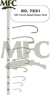 Montana Fly Company 2XL Curved Nymph/Hopper Hook 7231-100 Pack