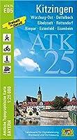 Kitzingen 1:25 000: Wuerzburg-Ost, Dettelbach, Eibelstadt, Rottendorf, Rimpar, Estenfeld, Eisenheim