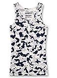 Sanetta Niñas Camiseta Interior, Gris con Patrón 346407 (140)