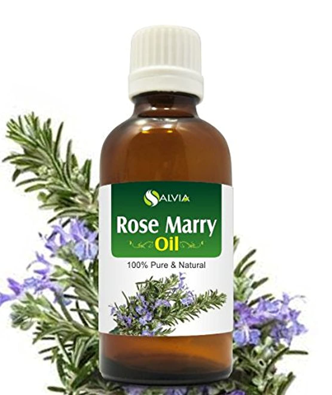 モーション換気する祭司ROSE MARY OIL 100% NATURAL PURE UNDILUTED UNCUT ESSENTIAL OIL 15ML