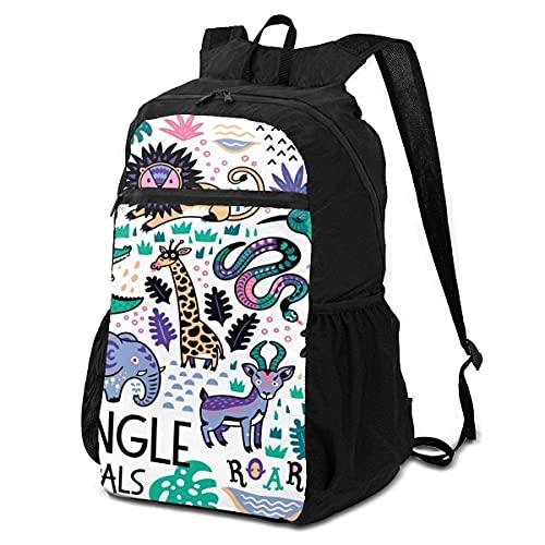 Yuanmeiju mochila backpack Animais Da Selva Infantil backpack School Shoulder backpack s Casual Daypack