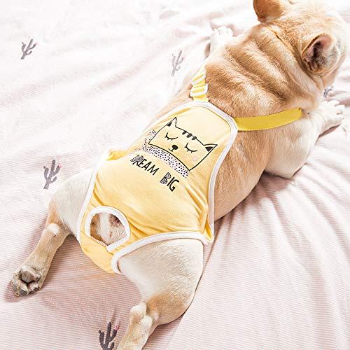 MYYXGS Hund Physiologische Hose Bulldogge Menstruationshose HüNdin Hund Hygienehose Anti-BeläStigung Haustier Hund Sicherheitshose Wiederverwendbare Sicherheitshose