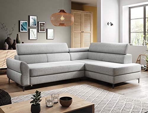 Remo Modern Corner Sofá Cama Almacenamiento Relax Función Cualquier Color Piel Sintética