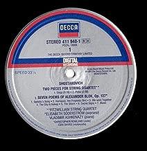 Dmitri Shostakovich , Fitzwilliam String Quartet , Vladimir Ashkenazy - Two Pieces For String Quartet / Seven Poems Of Alexander Blok, Op. 127 / Piano Quintet, Op. 57 - Decca - 411 940-1