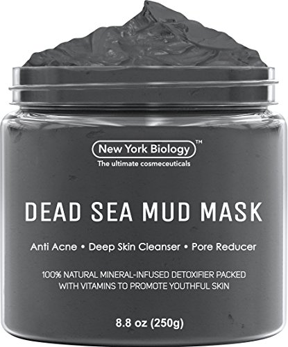 New York Biology Dead Sea Mud Mask Infused with Lavender - Spa Quality Pore Reducer to Help with Acne, Blackheads and Oily Skin Tightens Skin for A Healthier Complexion - 8.8 oz