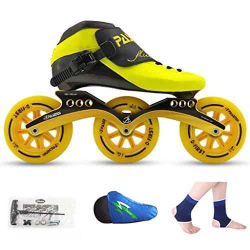 QSs-Ⓡ Rollschuhe, Speed-Skates, Laufschuhe, professionelle Eisschuhe für Kinder, Inline-Eisschuhe für Männer und Frauen