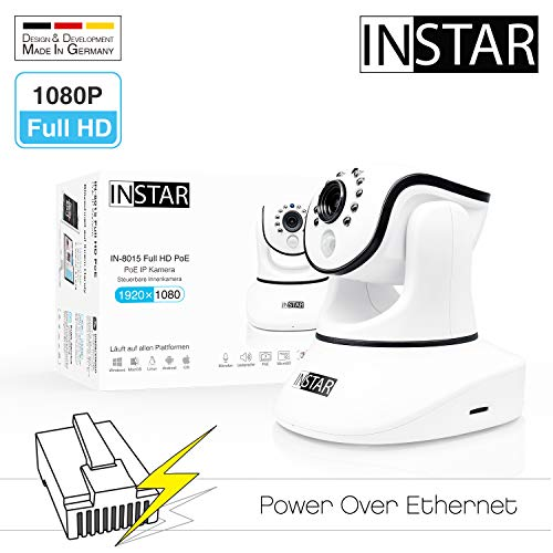 INSTAR IN-8015 Full HD (PoE) wit - PoE bewakingscamera - IP-camera - binnencamera - Pan Tilt - alarm - PIR - bewegingsdetectie - nachtzicht - groothoek - IEEE 802.3af - RTSP - ONVIF