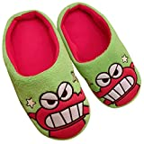 Y-PLAND Zapatillas de algodón de Dibujos Animados, crayón shinxin, Zapatillas de casa de Felpa de Perro Blanco pequeño, Zapatillas de Piso de Pareja-2_EU35-42