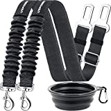 URPOWER Dog Seat Belt 2 Pack Dog Car Seatbelts Adjustable Pet Seat Belt for Vehicle Nylon Pet Safety Seat Belts Heavy Duty & Elastic & Durable Car Seat Belt for Dogs, Cats and Pets