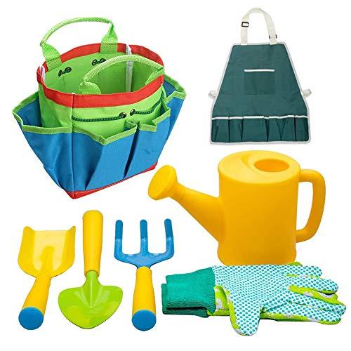 Hieefi Kit Jardineria Jardinería Juguetes para Niños, Regalos De Los Niños Playa Recinto De Seguridad Set Juguetes De Plástico Al Aire Libre 7pcs