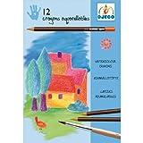 DJECO- Colores 12 Lápices acuarelables, Multicolor (DJ08824)