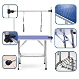 "Best Dog Grooming Tables - puppykitty 36"" Adjustable Folding pet Dog Grooming Table Review"