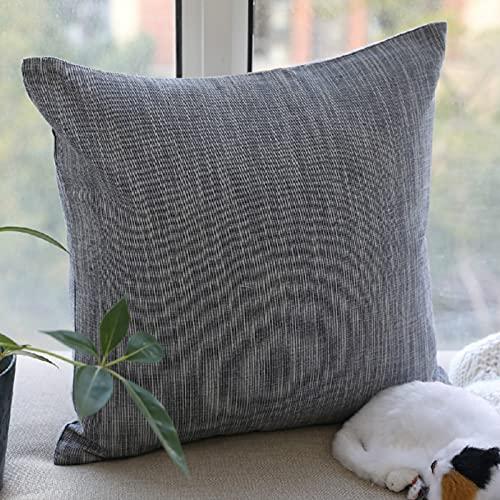 Algodón Y Lino Color Sólido Funda De Almohada Decorativa Respaldo De Sofá Oficina Tela De Coche Simple Almohada Lumbar Almohada De Siesta para El Hogar