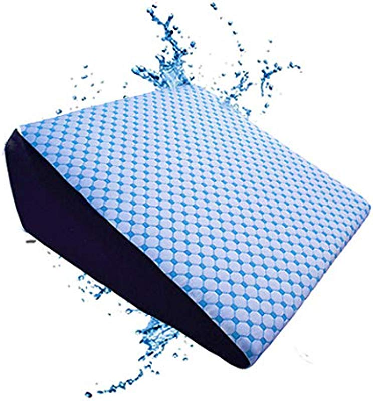 The Coldest Wedge Pillow Best For Sleeping Acid Reflux Side Leg Sleeping Snoring Apnea Baby Memory Foam Washable Cover