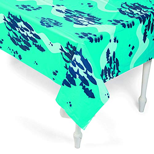 Purchase Ocean Tablecloth Roll (1 piece) Party Supplies, Table Covers, Shark Party, Mermaid Party