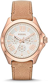 Fossil Cecile Multi-Function White Dial Beige Leather Ladies Watch