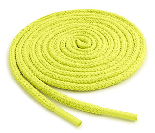 OrthoStep Round Athletic Neon Yellow 27 inch Shoelaces 2 Pair Pack