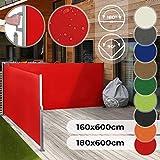 Jago Doppel Ausziehbare Seitenmarkise für Balkon Terrasse Garten - Farbauswahl