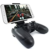 Megadream PS4 Controller Phone Holder Clip for Sony Playstation 4 PS4 Pro Slim, 180 Degree Adjustable Mount Stand Android Samsung Galaxy S9 S8 S7 Note 9 8, HTC One, LG, Sony Xperia, Moto Max 7.9 inch