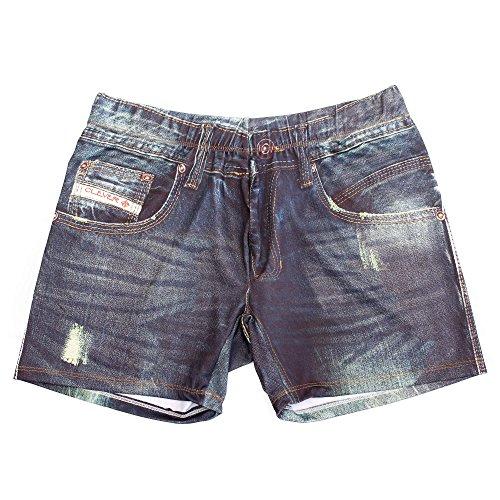 Clever Moda Denim Jean Boxer, Sous-Vêtement Homme, Bleu. Ta. M