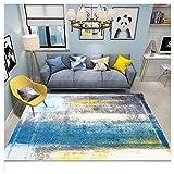 GUOCU Tapis De Salon Poils Ras Moderne 3D Abstrait Style Chic Motif De Fleurs Vintage Tapis Chambre,Coloré21,180x280cm