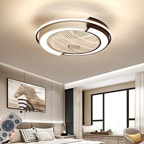 Deckenventilator Mit Beleuchtung LED 36W Fan Deckenleuchte Fernbedienung Leise Dimmbar Einstellbare Windgeschwindigkeit Deckenlampe Für Schlafzimmer Wohnzimmer Esszimmer,D53×20Cm