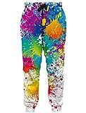 RAISEVERN Unisex Jogger Pants Colorful Paint...