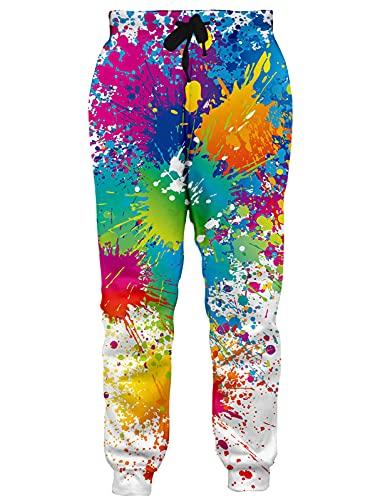 neon splatter paint leggings - 2