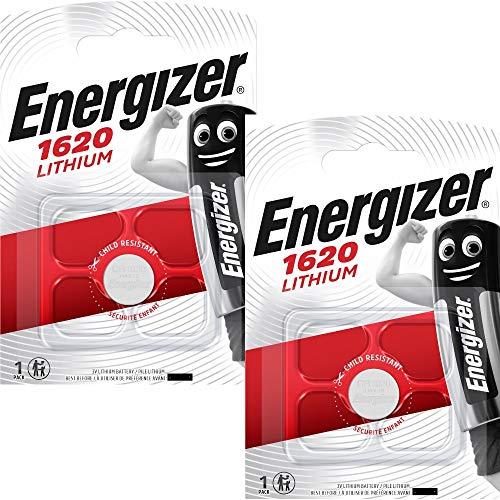 Energizer Cr1620 / Dl1620 Lithium-Batterien x 2 (Münzenformat, für Auto-Schlüssel)